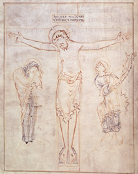 Ramsey Psalter, Crucifixion